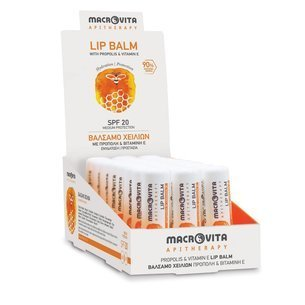 MACROVITA LIP BALM APITHERAPY SPF20 propolis & vitamin E 4.8g