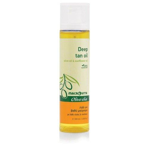 MACROVITA OLIVE-ELIA Deep Tan Oil SPF0 olive oil & sunflower oil 100ml