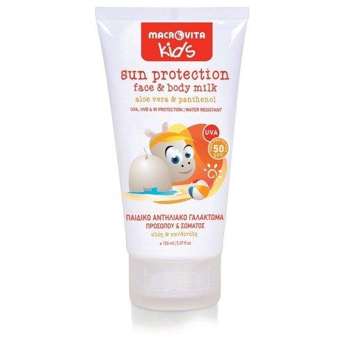 MACROVITA KIDS sun protection face & body milk SPF50 aloe vera & panthenol 150ml