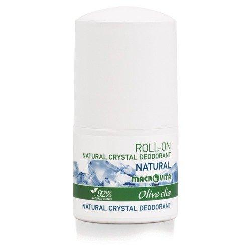 MACROVITA OLIVE-ELIA DEODORANT-ROLLER mit natürlichen Kristall NATURAL 50ml