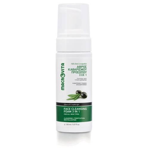 MACROVITA Schaum Reiniger 3in1 mit Bio-Olivenöl und Oberlicht 150ml
