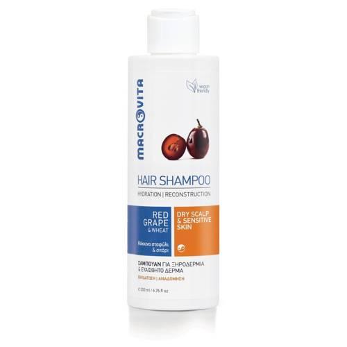 MACROVITA łagodny szampon do suchej i wrażliwej skóry głowy 200ml